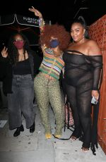 Lizzo & SZA Meet up for a night out together at The Nice Guy in West Hollywood