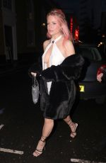 Lottie Moss Puts her assets on display as she steps out for dinner with friends at Louie restaurant in Covent Garden