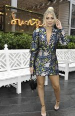 Love Island winner and Singer Paige Turley seen on girls nightout as they arrive at Sunset by Australasia bar in Manchester