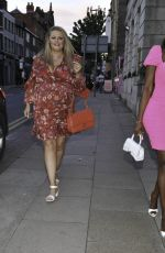 Lystra Adams Parties with new housewife Deborah Davies who is a Psychic Medium from Wilmslow Cheshire as they arrive at Boujee bar in Manchester City Centre