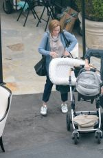 Mandy Moore With her baby on the set of