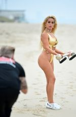 Marcela Iglesias In Malibu during a photoshoot for her fitness brand EdgecrossX