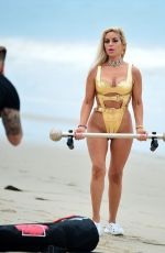 Marcela Iglesias Works up a morning sweat in Malibu during a photoshoot for her fitness brand EdgecrossX