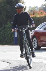 Marcia Cross Hopped on her bike for a Mother