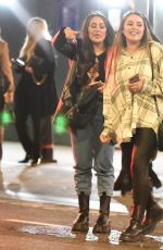 Marnie simpson and Sophie kasaei are seen in good spirits as they leave a roof top bar in London