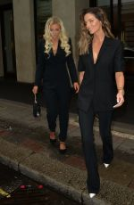 Maura Higgins and Lucie Donlan seen leaving the Mayfair hotel