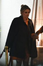 Megan Barton Hanson Seen looking worse for wear leaving Ours restaurant with a mystery man