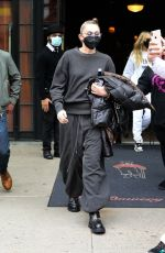 Miley Cyrus Keeps it casual in all black as she steps out from the Bowery Hotel in New York