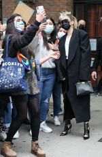 Miley Cyrus Meets her fans outside of Bowery Hotel ahead of her