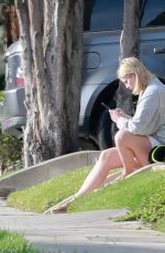 Mischa Barton Takes her dog for a walk before running an errand near her home in Los Feliz