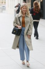 Mollie King Outside the BBC Radio 1 in London
