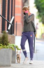 Naomi Watts Is pictured walking her dog in New York