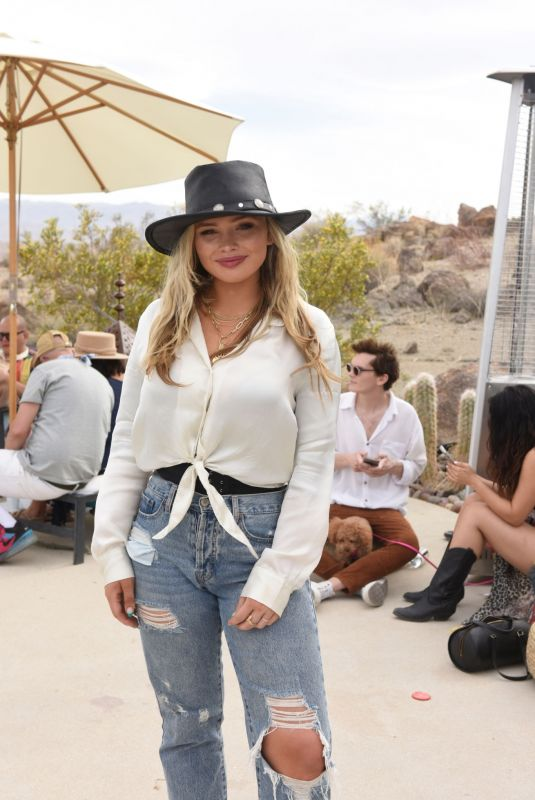 Natalie Alyn Lind Seen at Caliwater Escape at the Mojave Moon Ranch in Joshua Tree