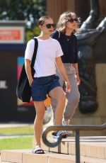 Natalie Portman Visiting a museum with her mother in Sydney