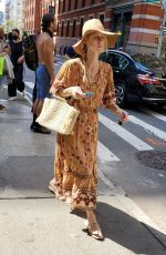 Nicky Hilton In a floral dress while enjoying the summery weather while shopping around Manhattan