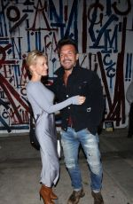 Nicky Whelan Leaves after dinner at Craig's in West Hollywood