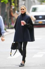 Olivia Palermo Looks classy while out for a coffee run in Tribeca