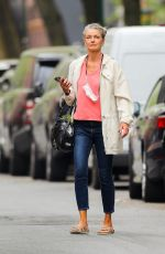 Paulina Porizkova Is spotted out on a lovely spring day in New York