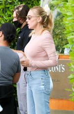 Petra Ecclestone Looks pretty in pink as she steps out for a family dinner at Cecconis in West Hollywood