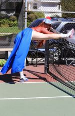 Phoebe Price Brings her colorful style to the tennis courts in Los Angeles