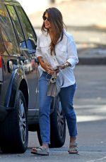 Pia Miller (Loyola) Pays her parking meter as she stops by a hair salon in Sydney