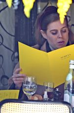 Princess Beatrice Spotted dining at Scott