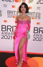 Raye At The BRIT Awards 2021 arrivals, The O2 Arena