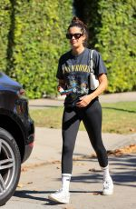 Sara Sampaio Rocks a Guns n Roses shirt to a pilates class after returning from her Turks and Caicos getaway