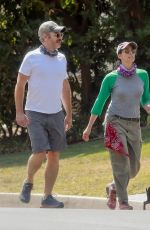 Sarah Silverman Out for a walk with her dog in Los Feliz