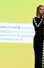 Selena Gomez At Global Citizen Vax Live: The Concert to Reunite the World at SoFi Stadium in Inglewood