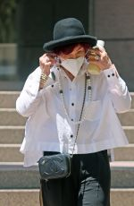 Sharon Osbourne Is seen leaving a business meeting in Beverly Hills