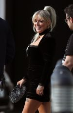 Sheridan Smith Is seen departing a hotel to go to the BRIT Awards in London