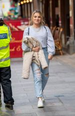 Sian Welby Pictured leaving the Global studios after the Capital Radio Breakfast show in London