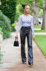 Skai Jackson Looking extremely chic on her way to dinner in Beverly Hills