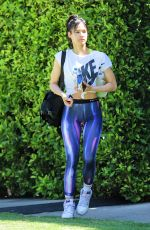 Sofia Boutella Seen in colorful workout pants out pilates class im West Hollywood