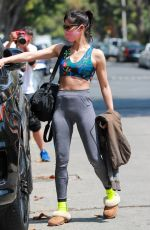Sofia Boutella Showcases her fit frame leaving a private pilates class in West Hollywood