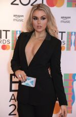 Tallia Storm At The BRIT Awards 2021 arrivals, The O2 Arena