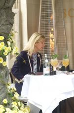Tamara Beckwith Is spotted out with a friend, al fresco style at the popular celebrity haunt Scott