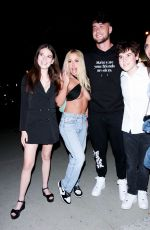 Tana Mongeau Flaunts her fit physique while grabbing a late night dinner at BOA steakhouse in West Hollywood