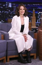 Tina Fey On the Tonight Show with Jimmy Fallon in New York
