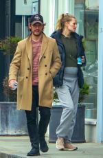 Toni Garrn Goes makeup free showing off her baby bump for the first time as she goes shopping in London