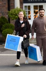 Vicky Pattison and her boyfriend Ercan Ramadan seen furniture shopping at Arighi Bianchi