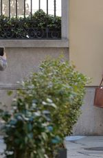 Victoria Silvstedt Posing in front of her hotel in Milan