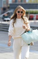 Vogue Williams Is all smiles looking very casual as she is seen arriving at Stephs Packed Lunch tv show in Leeds