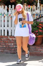Addison Rae Brings back the Von Dutch trucker hat as she wraps up lunch at fancy hotspot The Ivy in West Hollywood