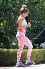 Addison Rae In pink as she leaves pilates class showing off her killer curves in West Hollywod