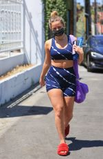 Addison Rae Is all smiles after a pilates session with Hailey Bieber in West Hollywood