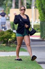 Addison Rae Leaves her pilates class in West Hollywood