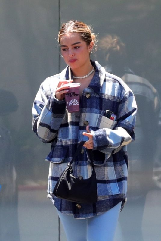 Addison Rae Spotted grabbing a juice after a pilates workout in West Hollywood