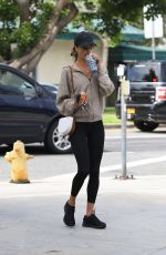 Alessandra Ambrosio Goes out for a healthy bite with a friend at Kreation Organic Juicery in Beverly Hills